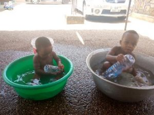 KIDS COOLING OFF IN ACCRA GHANA