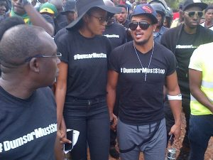in May 2015 #DumorMustStop campaign was spearheaded by Ghanaian actress Yvonne Nelson and was patronized by many other celebrities