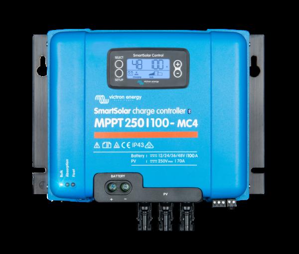 victron energy SmartSolar-charge-controller-250-100-MC4-display