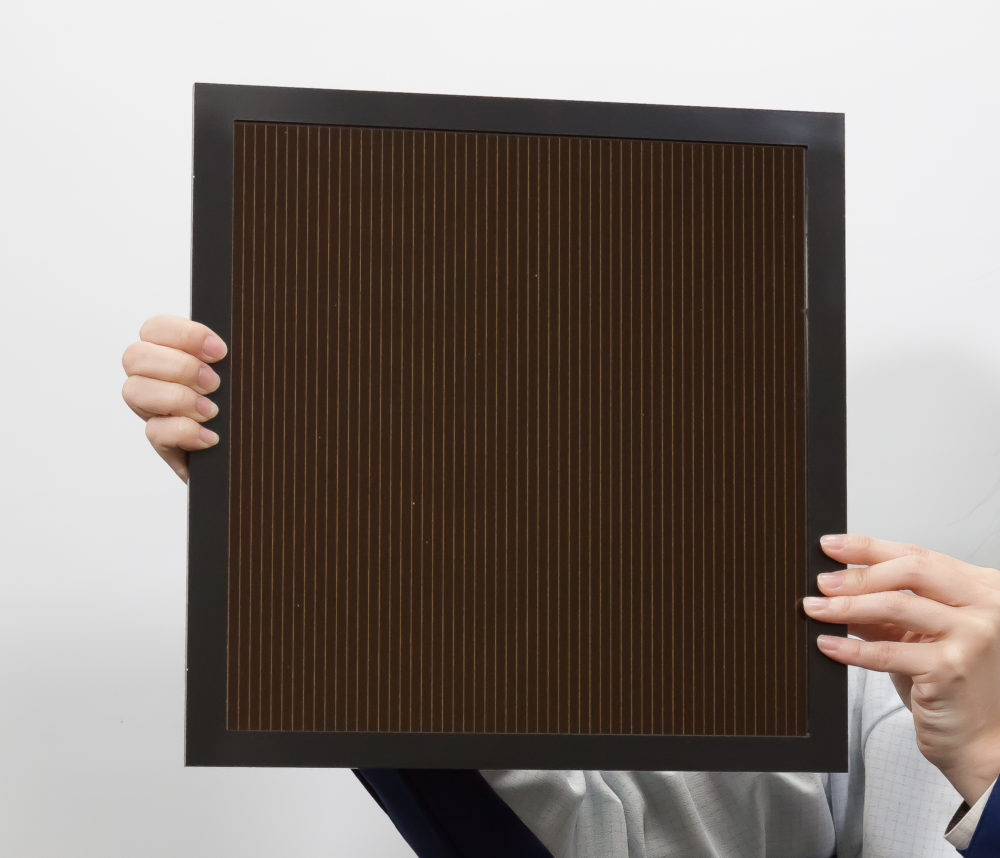 Panasonic reaches 16.09% efficiency with perovskite solar module using inkjet-based coating