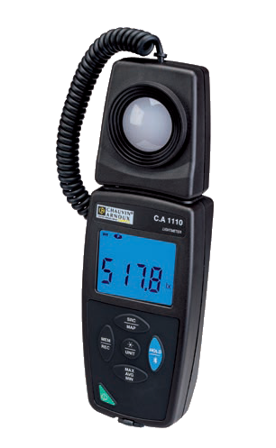 a logging light meter, such as the Chauvin Arnoux C.A 1110,